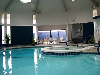 heated saltwater pool and whirlpoolspa